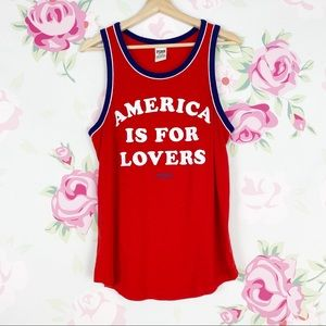 VS PINK America is for Lovers Tank Top M